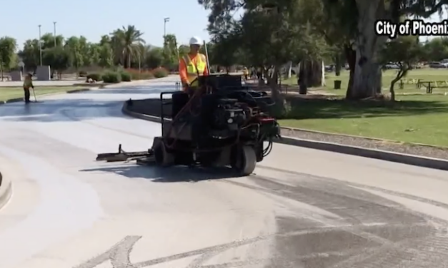Phoenix using 'cool pavement' to try lowering temperatures