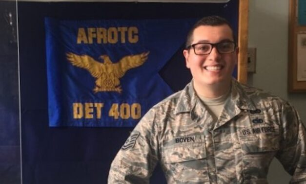 Air Force ROTC sergeant gets surprise of his life, path to officer commissioning