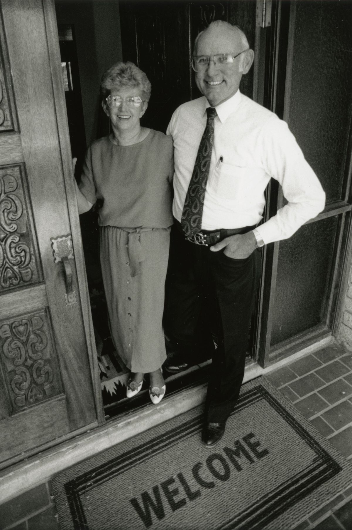 archival photo of Chuck and Judy Backus in 1996