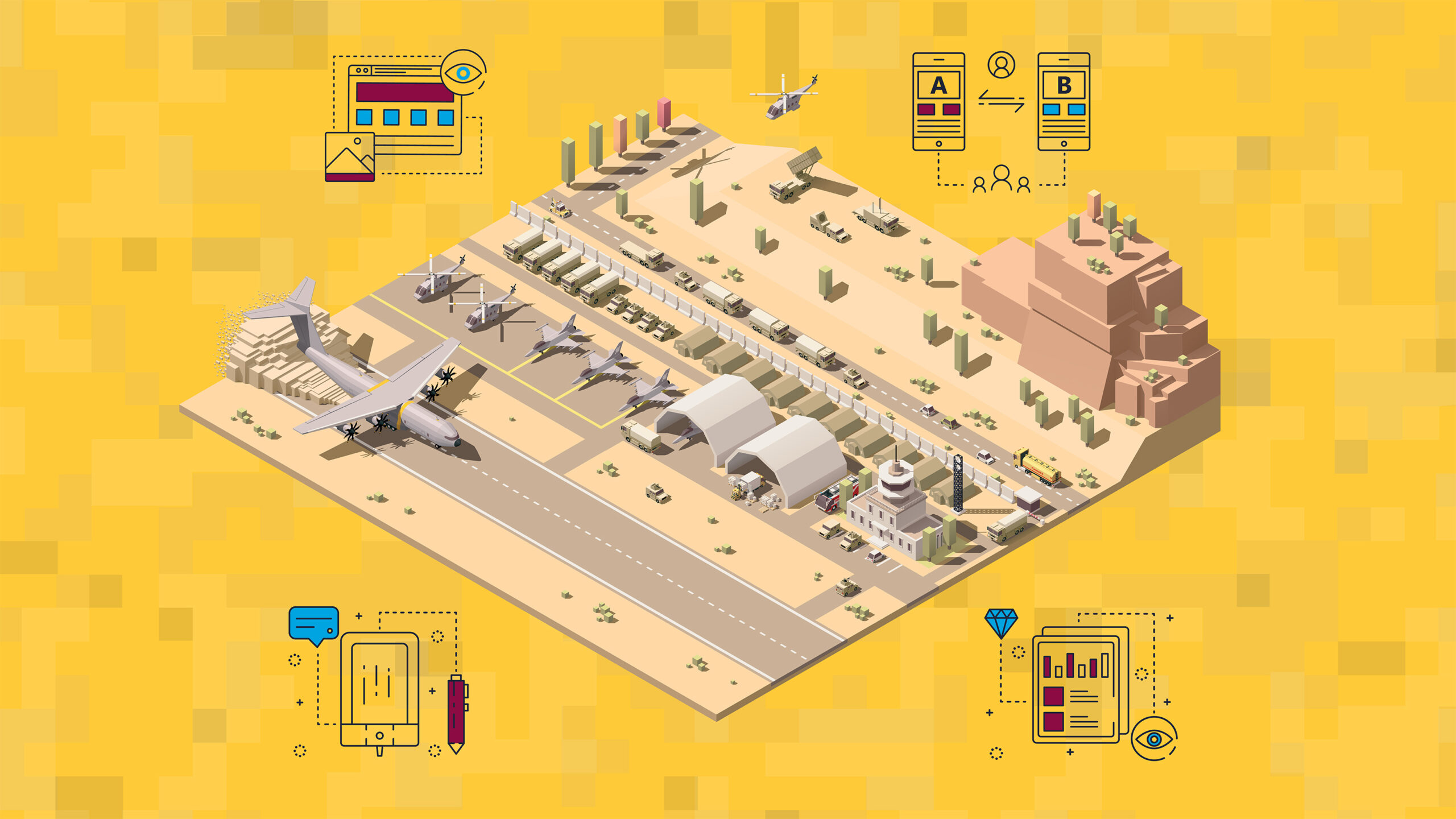 graphic of an air force base