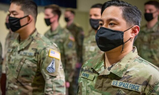 Call them guardians: Seventeen airmen transfer to Space Force at US air base in Japan