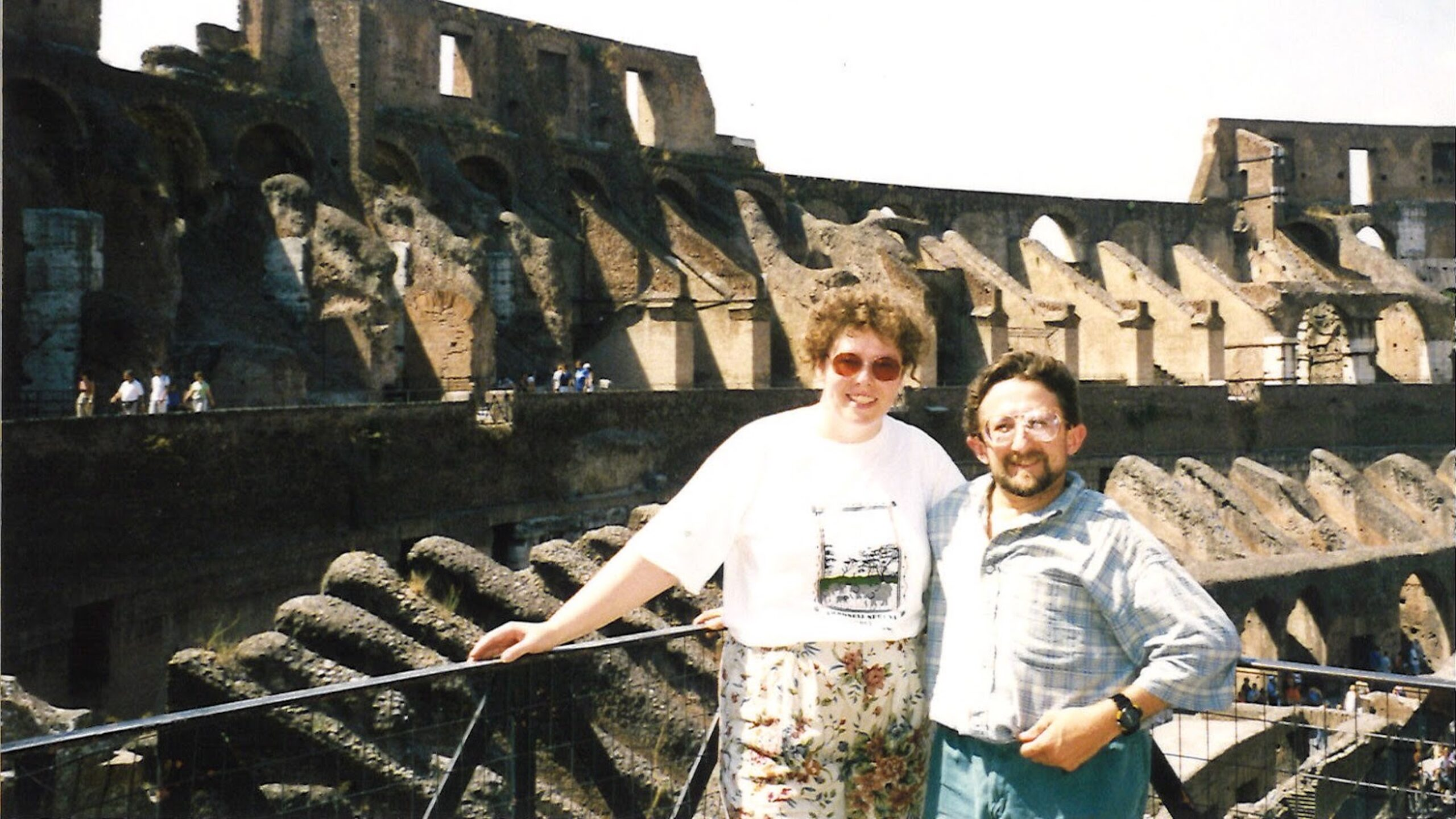 Joe and Sarah Nucci at the Colosseum in Rome, Italy