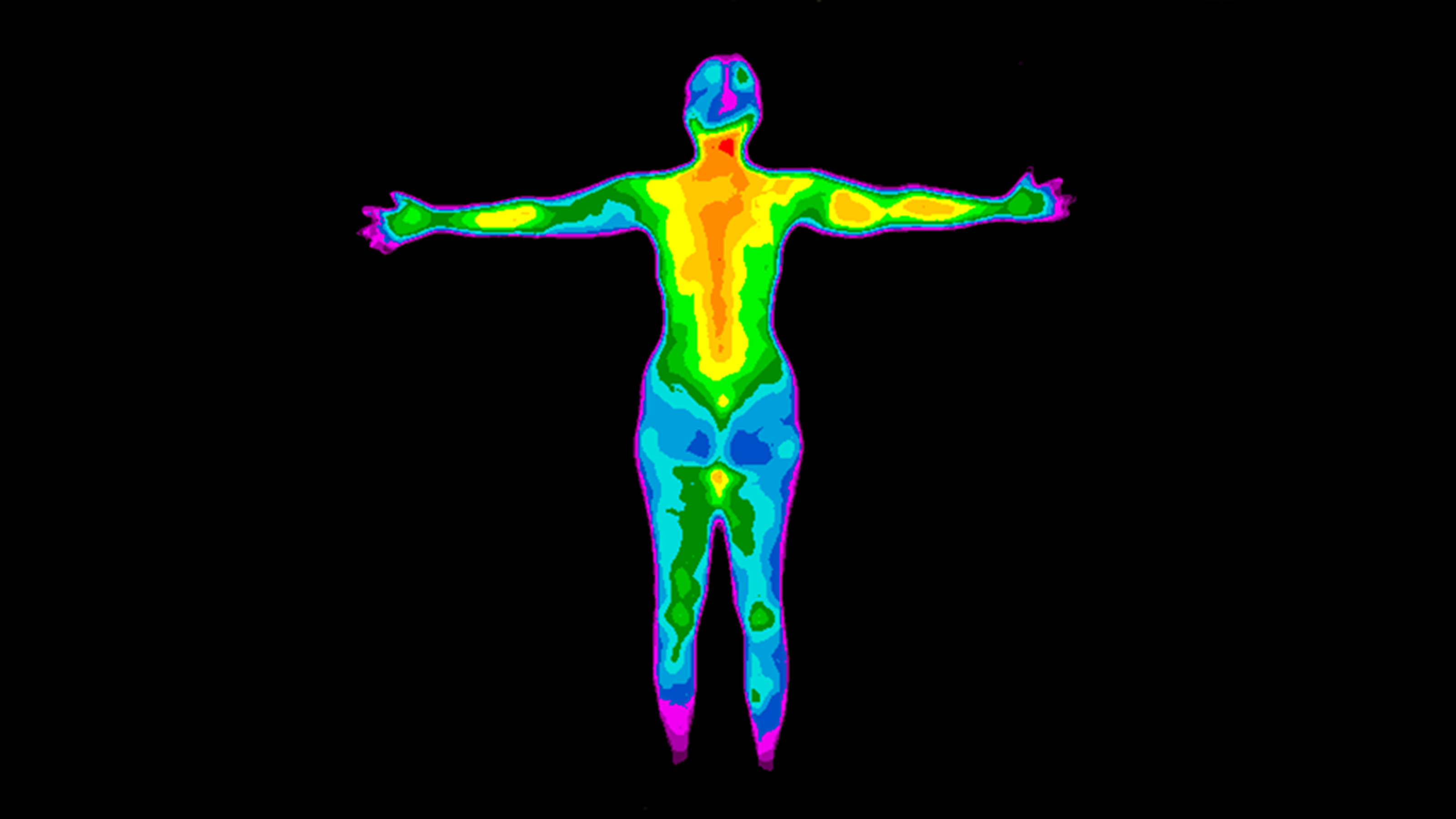 thermal image of a woman