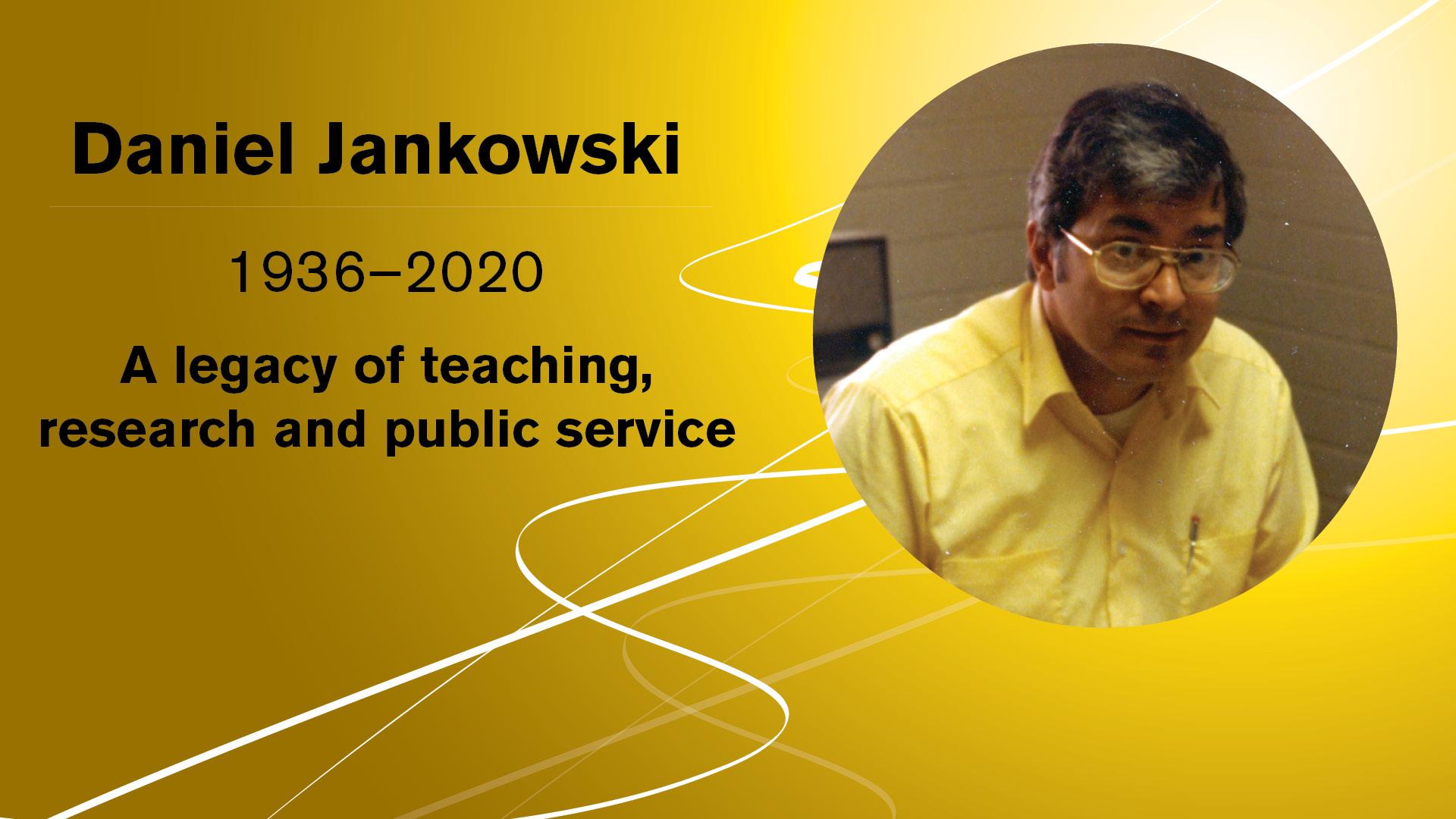 graphic with a photo of Daniel Jankowski