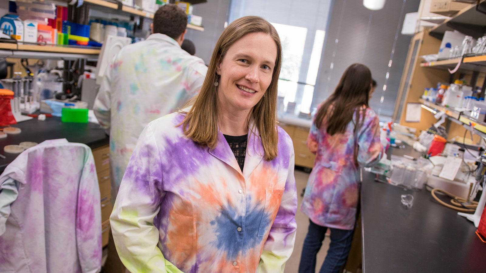 Sarah Stabenfeldt in her lab.
