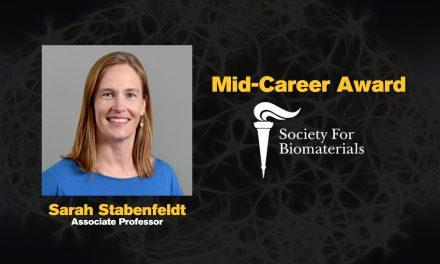 Stabenfeldt receives Society For Biomaterials Mid-Career Award
