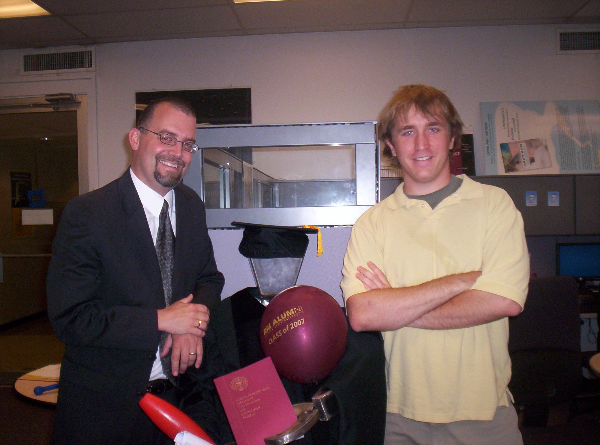 Zachary Pirtle and Professor Clark Miller