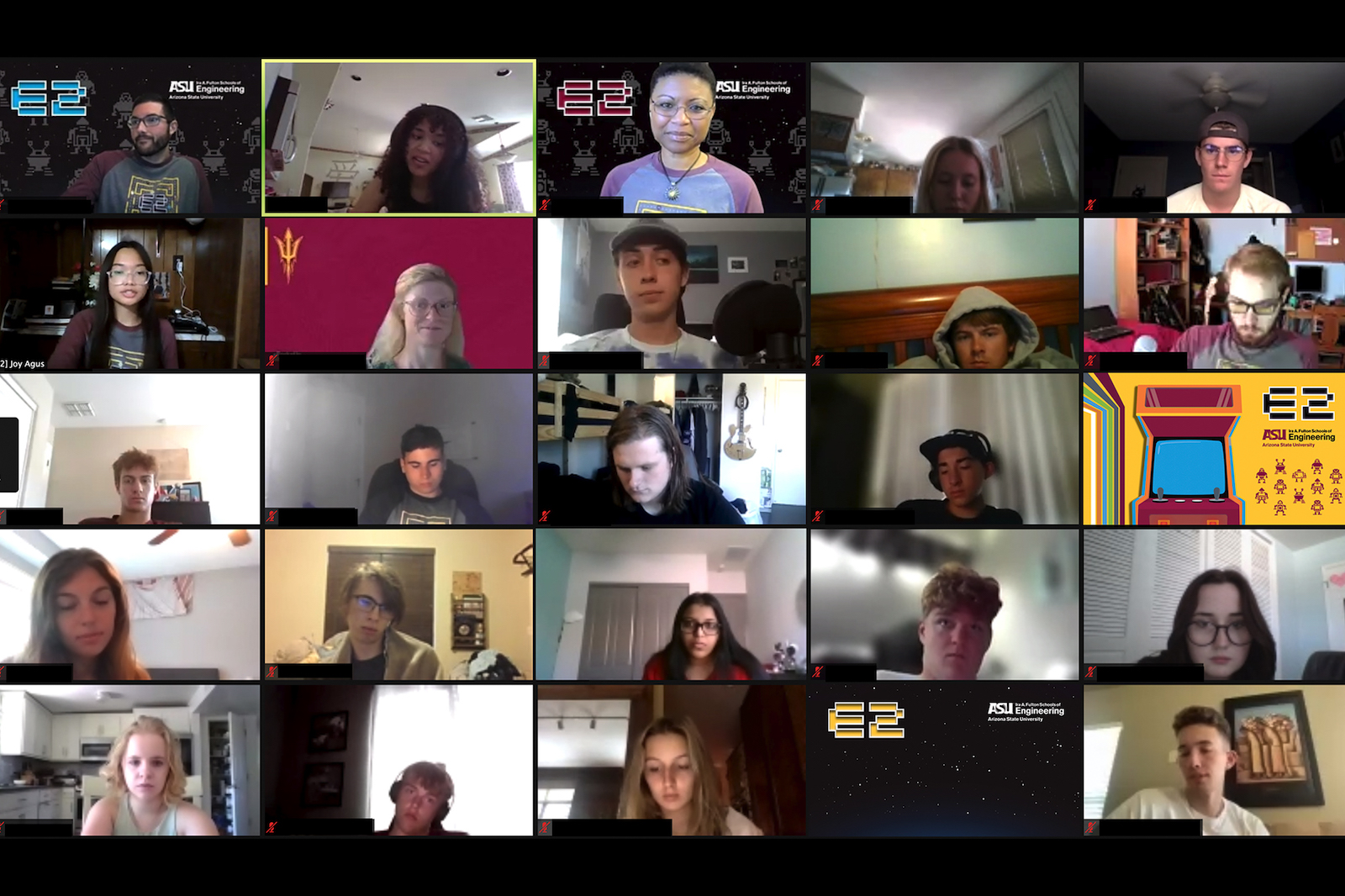 Zoom capture of E2 session