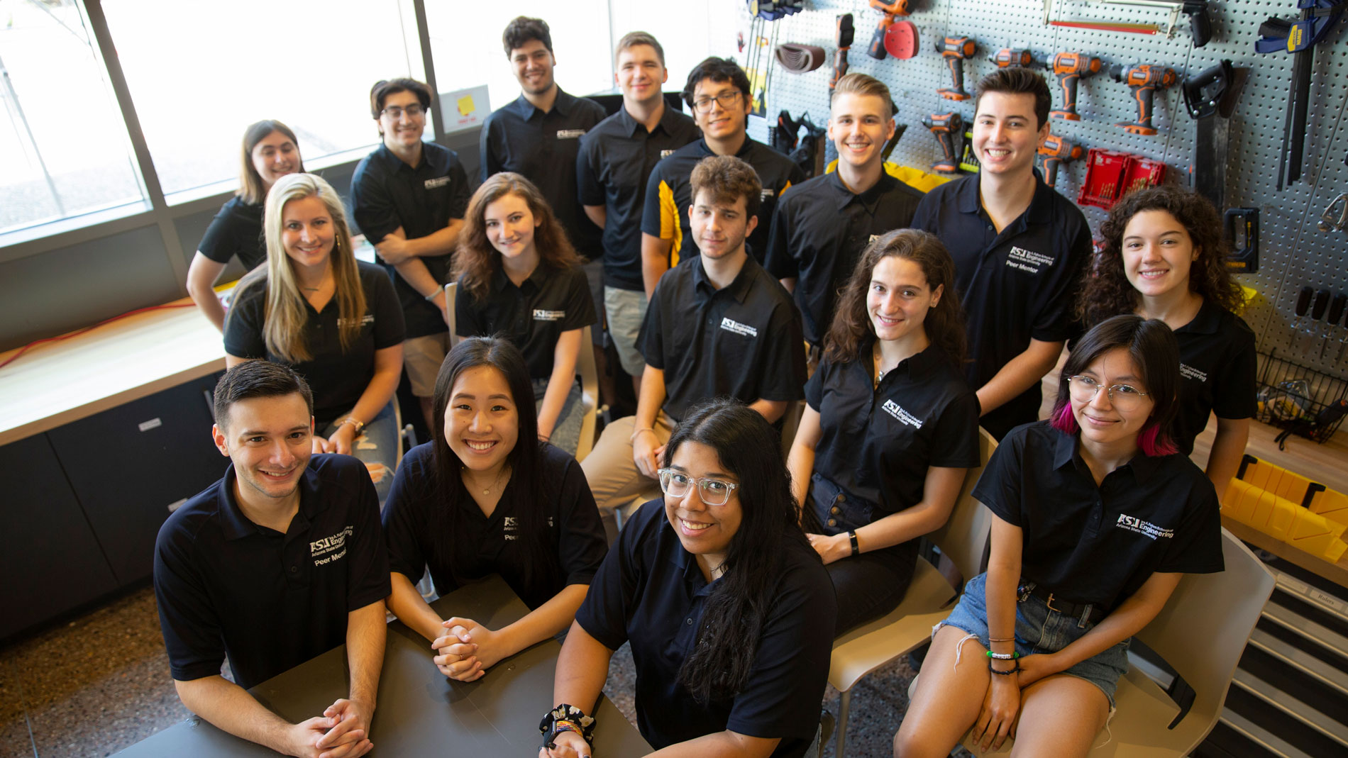 A group photo of the Ira A. Fulton Schools of Engineering peer mentors.