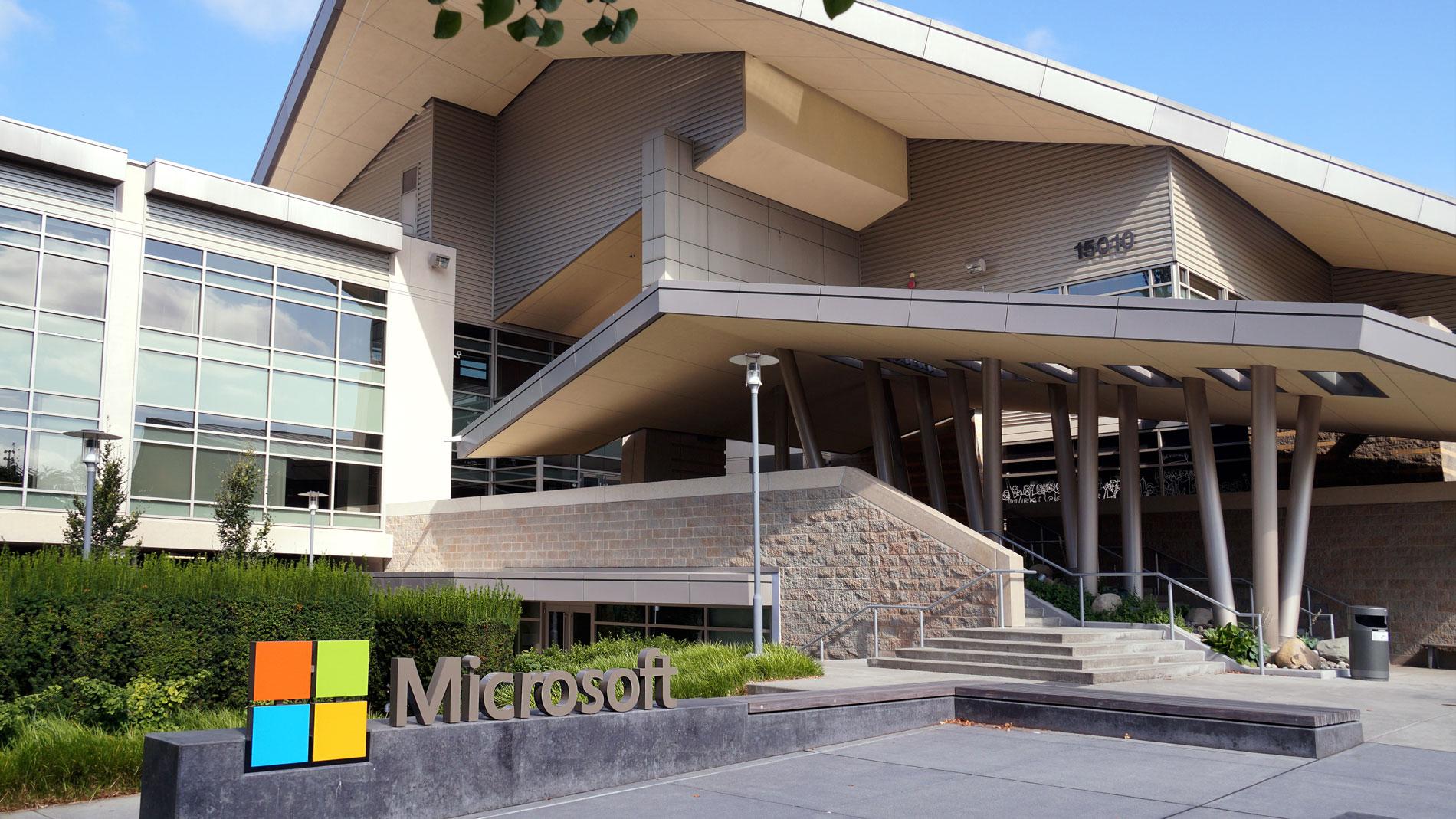 Photo of Microsoft's headquarters in Redmond, Washington.